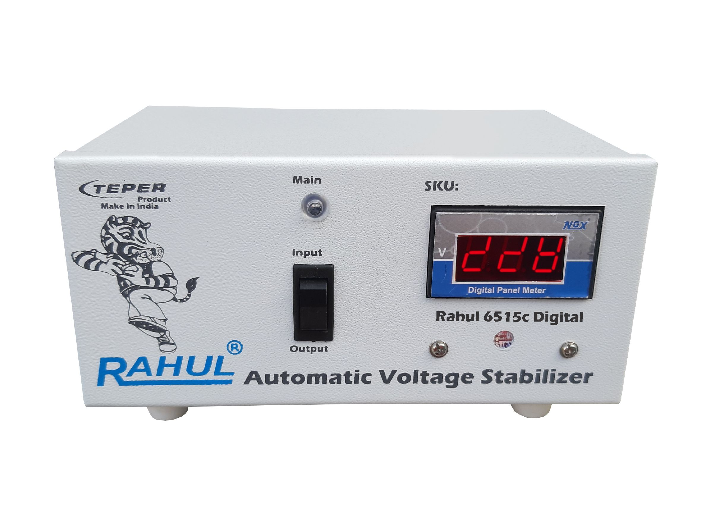 Rahul 6515c Digital 500 VA/1.5 Amp 140 280 Volt 3 Booster Automatic Digital Copper Voltage Stabilizer