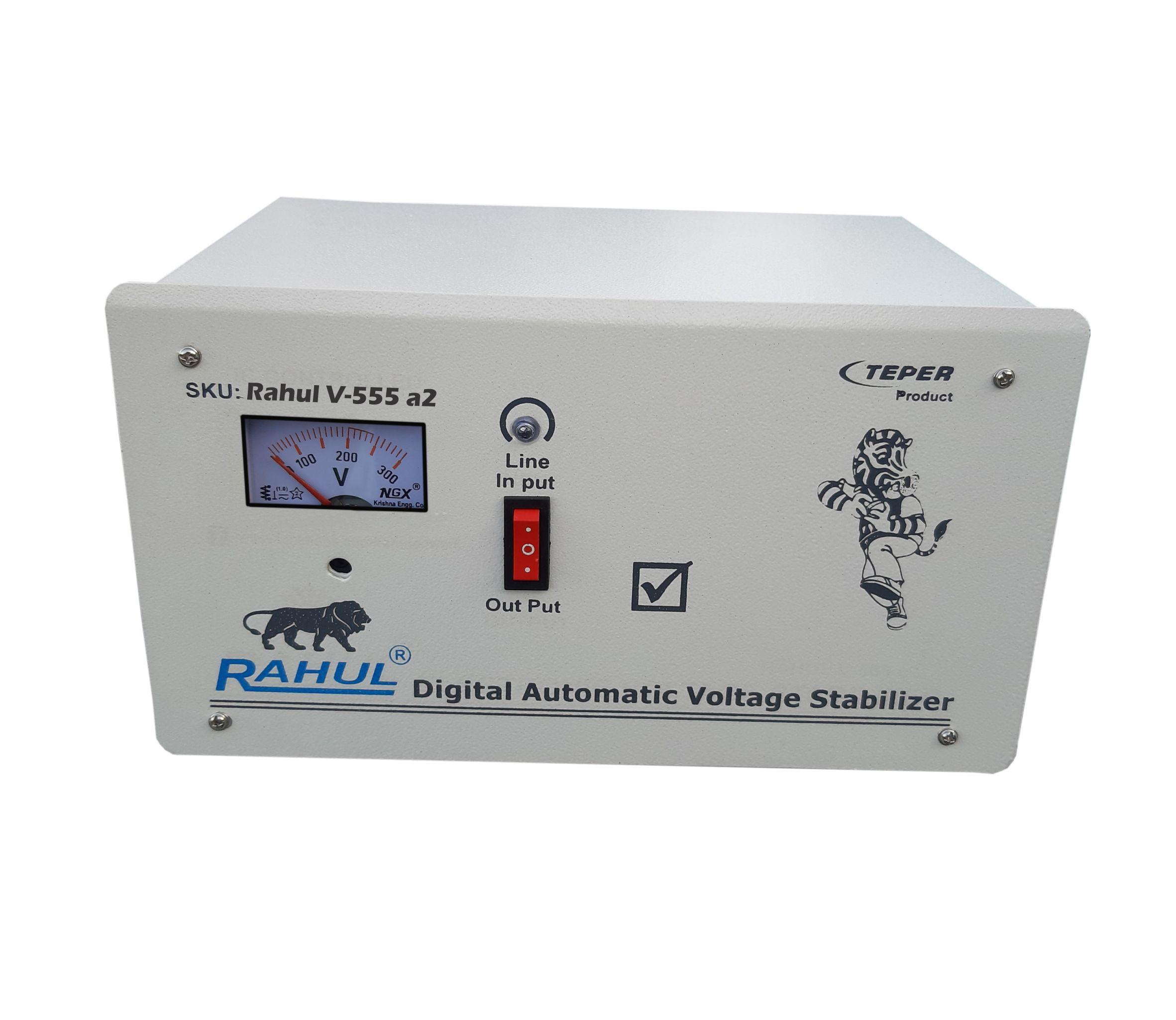 Rahul V 555 a2 Kva/8 Amp 100 280 Volt 5 Booster Mainline Automatic Digital Voltage Stabilizer