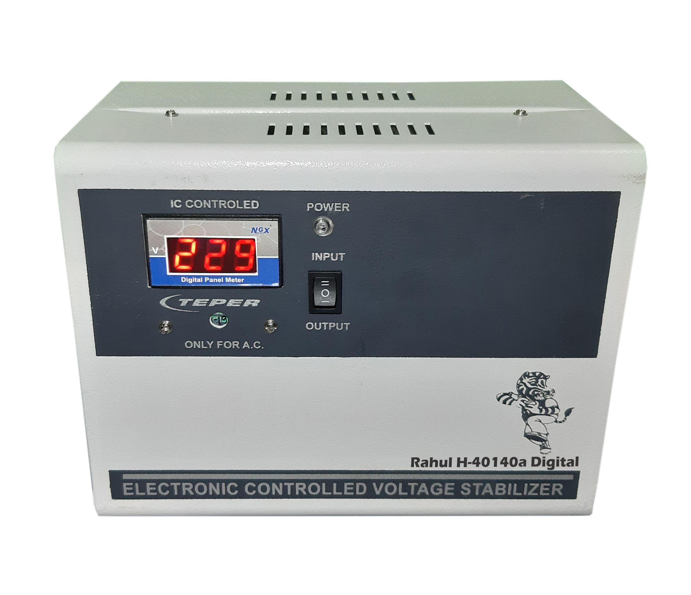 Rahul H 40140a Digital 4 Kva/12 Amp In Put 140 280 Volt 3 Booster Automatic Digital Voltage Stabilizer