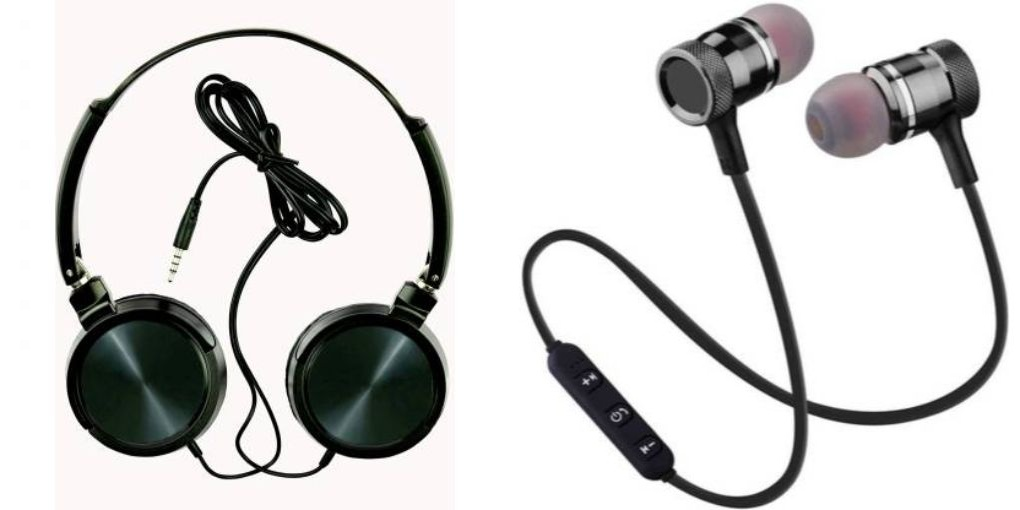 Tempo Wired headphone and Magnate Bluetooth headset|| Wired Headphone || _JUDg426