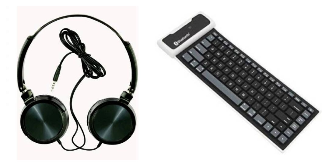Tempo Wired headphone and Soft Bluetooth KeyBoard|| Wired Headphone || _JUDg426