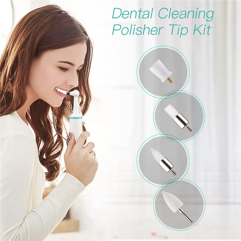 Low Speed Dental Contra Angle Polishing Bur 10 Pcs Professional Tooth Stain Remover Tips Set for Dental Care