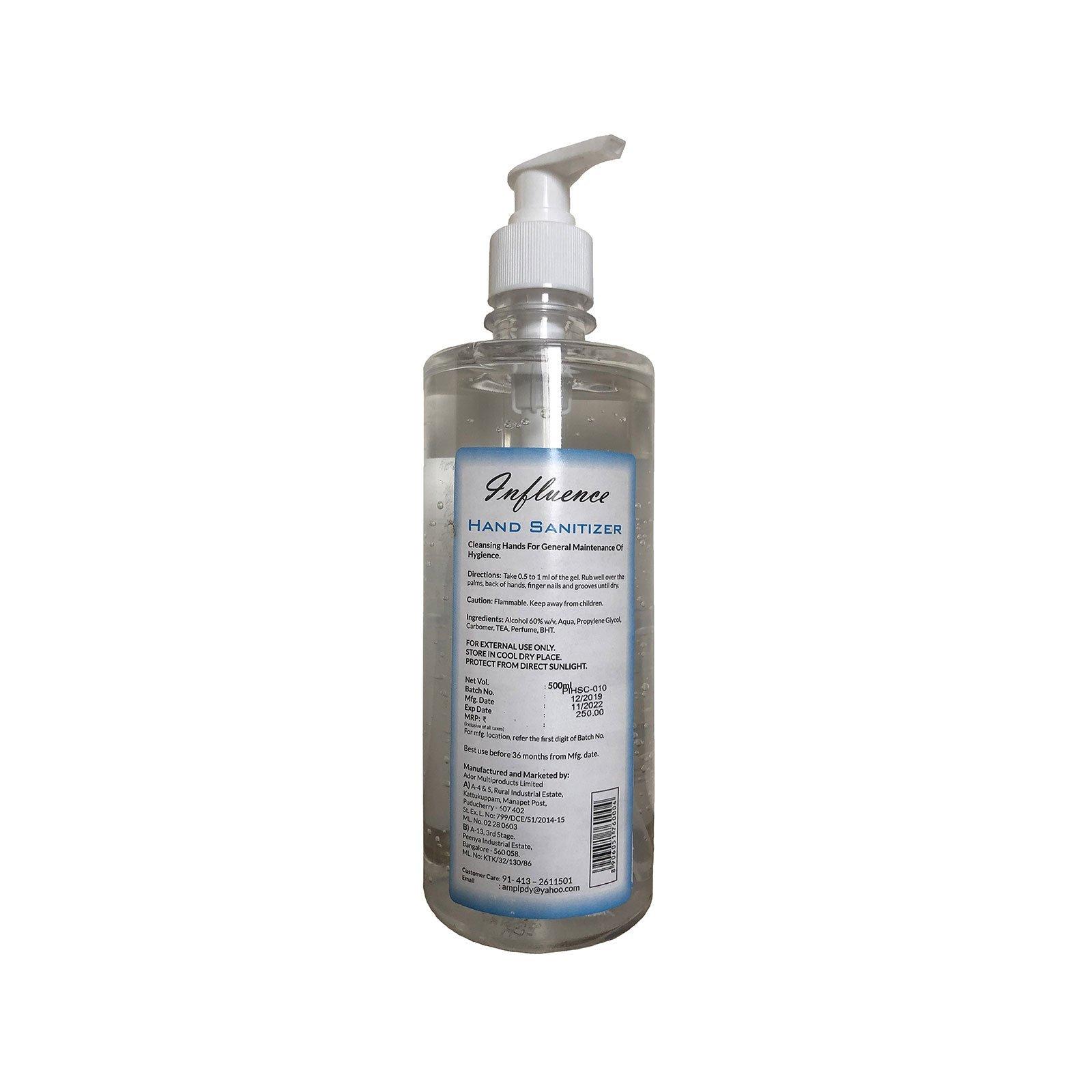Influence Hand Sanitizer   500 ml