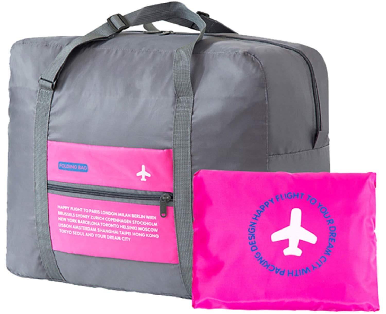 Shop Stoppers Flight Foldable Bag Waterproof Foldable Travel Luggage Bag, Sport Handbags for Men Women   Multicolo