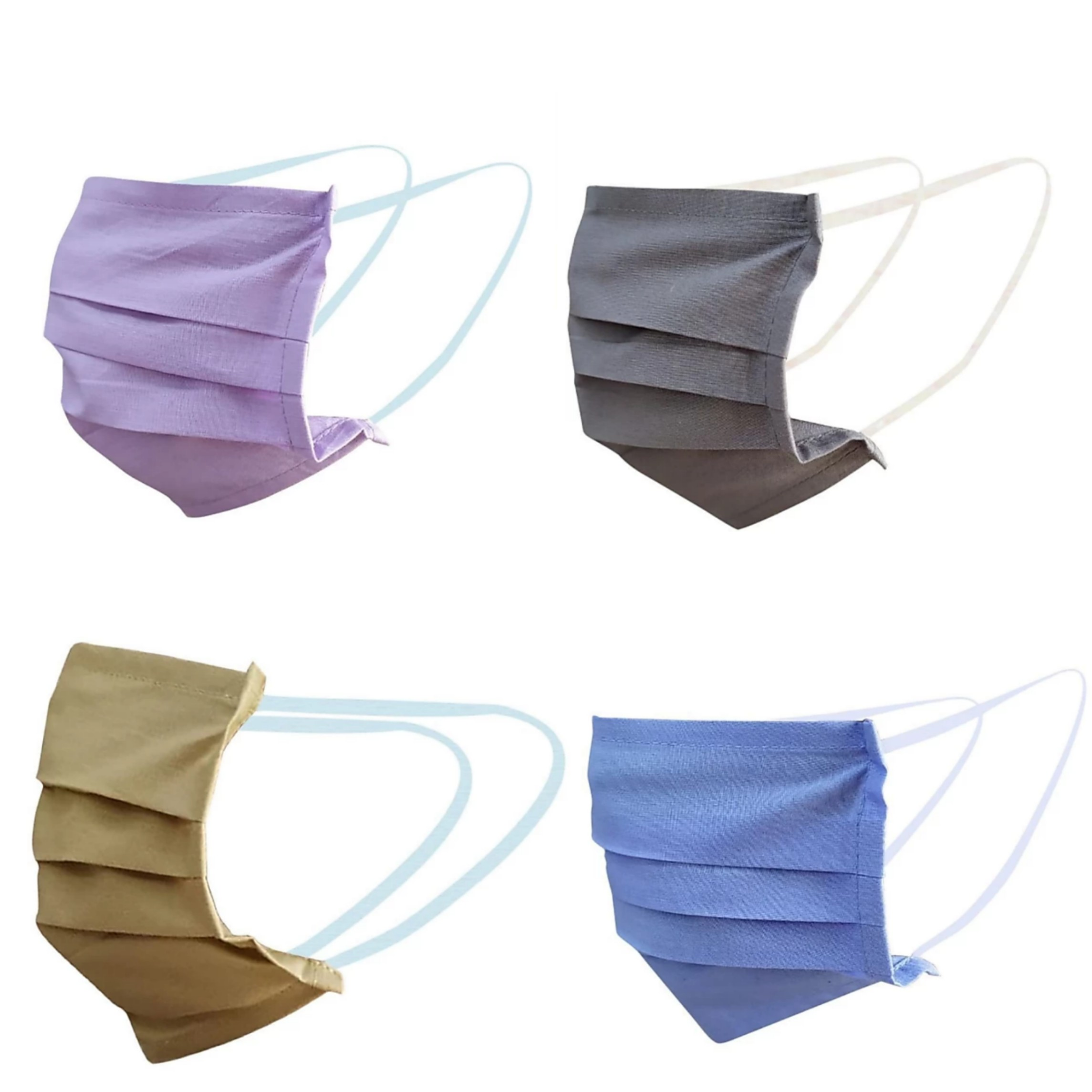 Cotton Multicolor Cloth Mask  Pack of 4