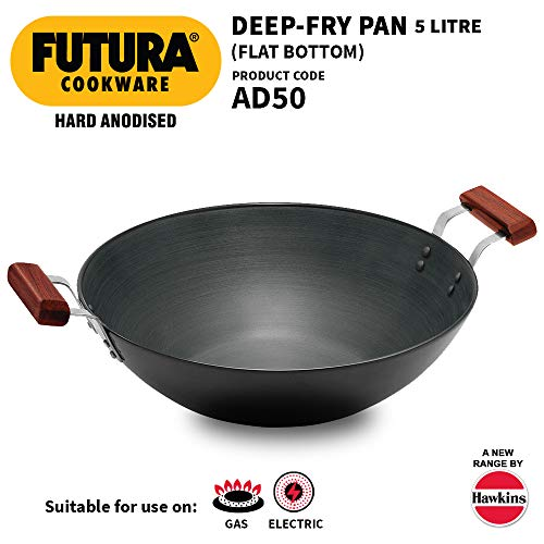 Hawkins Futura Hard Anodised Deep Fry Pan 33cm