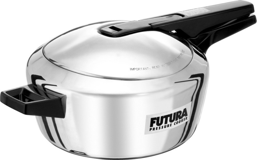 Hawkins Futura Stainless Steel Inner Lid 4 L Induction Bottom Pressure Cooker Silver Stainless Steel