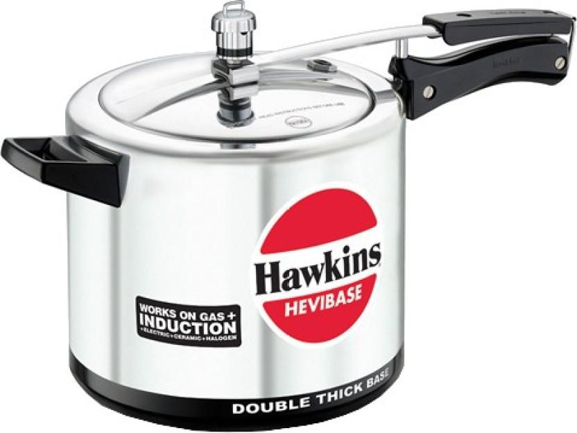 Hawkins Hevibase 5 L Inner Lid Induction Bottom Aluminium Silver Pressure Cooker