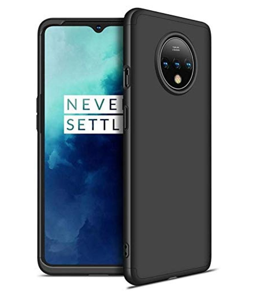 OnePlus 7T Hybrid Covers ClickAway   Black Gkk Back Cover  Type: Hybrid Covers, Color: Black