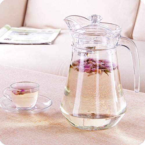Fabindi Imported Crystal Cut Glass Water Jug Jar 1.5 L Water Jar