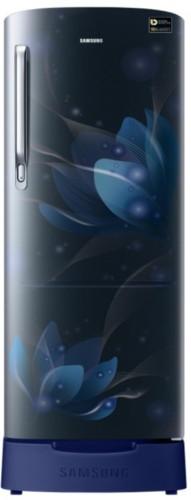 Samsung 230 L Direct Cool Single Door 4 Star  2019  Refrigerator  Blooming Saffron Blue, RR24N287YU8/NL