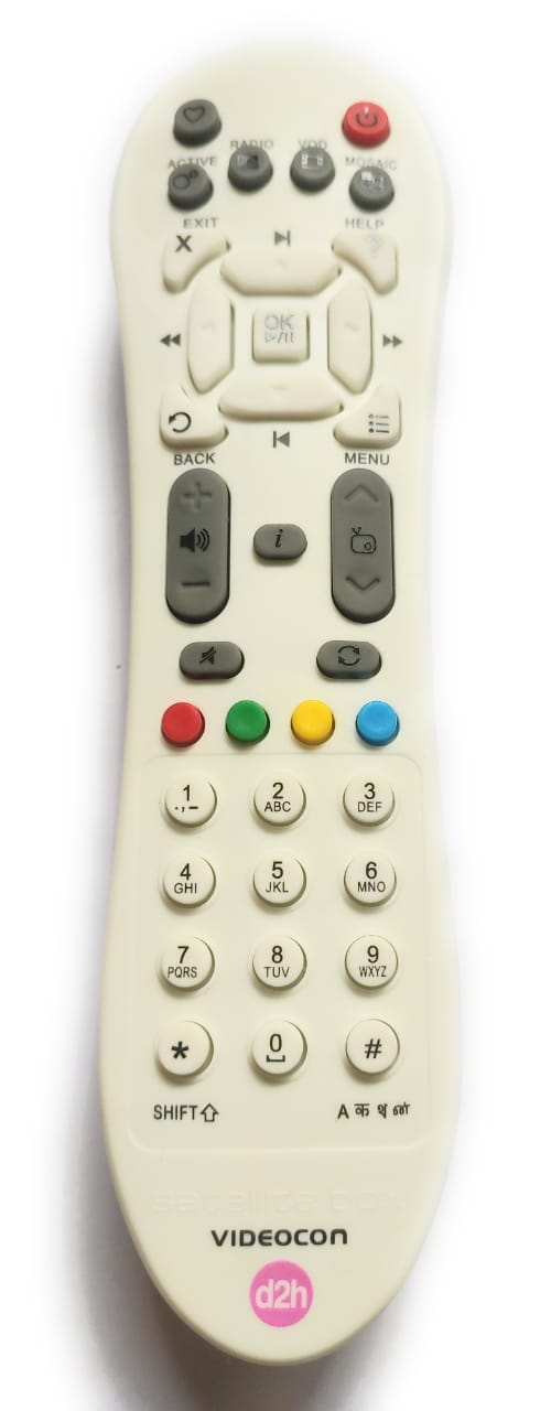 Videocon d2h Set Top Box Remote  White