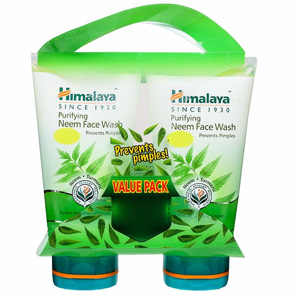 Himalaya Purifying Neem Face Wash Value Pack Of 2  150*2