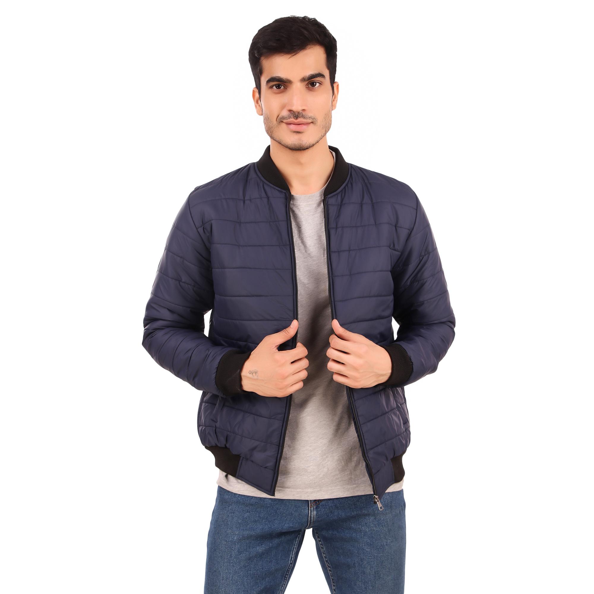 Full Sleeve Solid Men Jacket Polyester Regular Fit Jacket