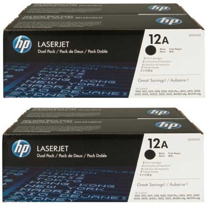 HP 12A Black Toner Cartridge Pack Of 4 Single Color Toner  Black