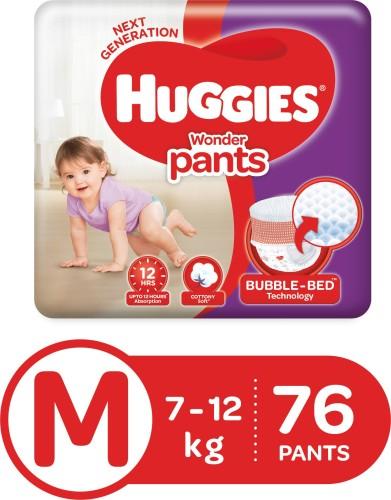 Huggies Wonder Pants diapers   M  76 Pieces