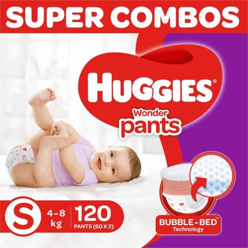 Huggies Wonder Pants diapers  Combo pack   S  120 Pieces