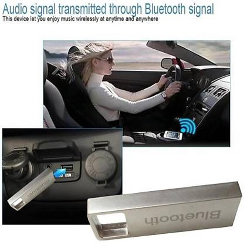 SMART METAL USB v4.0 Car Bluetooth Device with Adapter Dongle, Audio Receiver