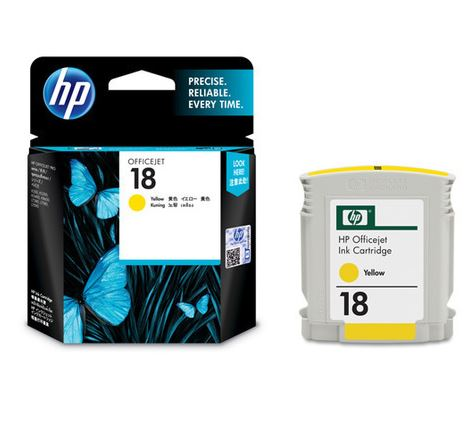 HP 18 Yellow Ink Cartridge C4938A