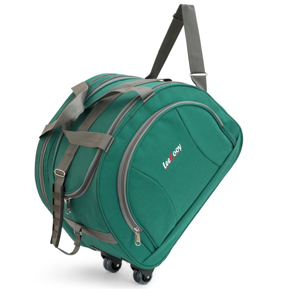 LeeRooy 55Liter Green D shape Expendable Duffel Strolley Bag