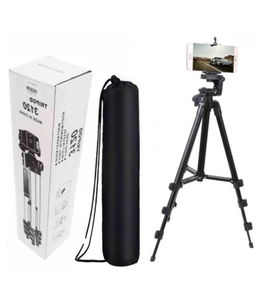 Indo Digital Portable Camera 3120 Tripod Light Weight Tripods with Black Nylon Carry Travel Bag