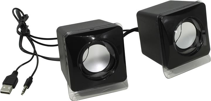 Mini USB 2.0 Speaker Compatible with PC, Laptop and Tablet  Black