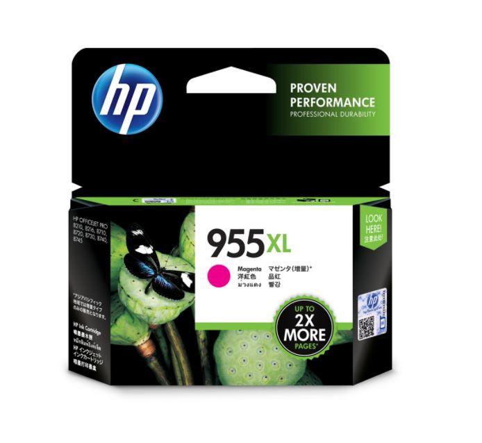 HP 955Xl Plotter Cartridge Magenta For Use OfficeJet Pro Series Pro 7720,7730, 7740,8210,8710,8720,8730