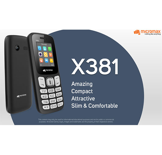 MICROMAX X381