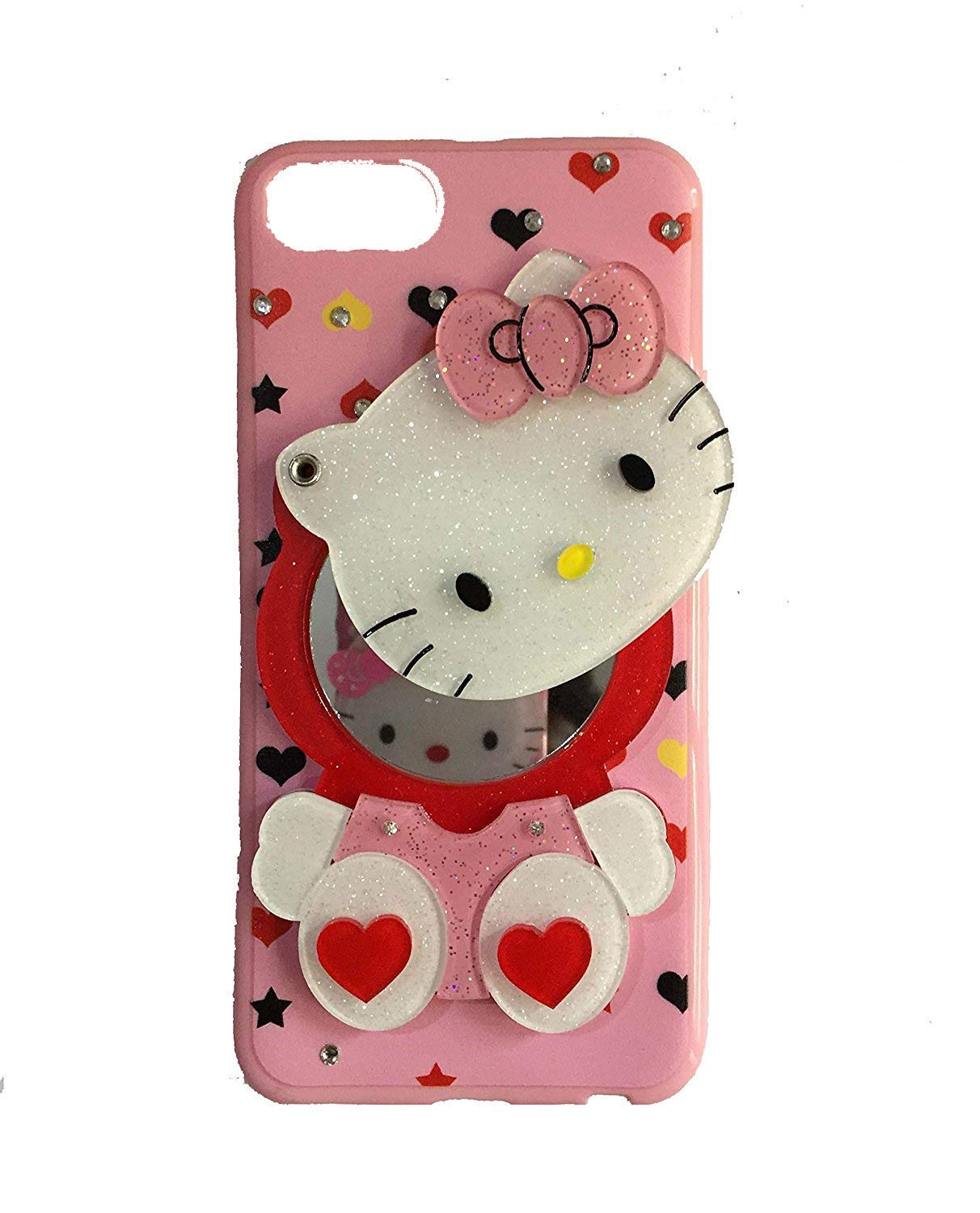 Makeup Mirror Kitty Back case Cover for Samsung Galaxy J7 /J7 2015/J7 NXT  Colours Print May Slightly Vary