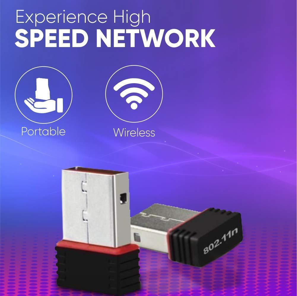 Terabyte 500Mbps Mini Wireless Wi Fi Dongle/Adapter  Black