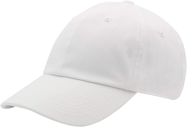 TyranT Baseball Caps Unisex 100 Cotton White Sports Caps for Men Women