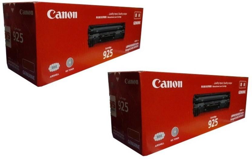 Canon 925 LaserJet Dual Pack Toner Cartridge Single Color Toner  Black