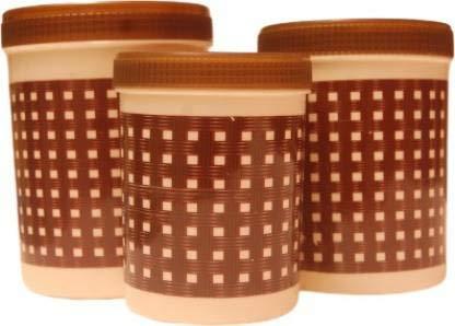 Shreeji Plastic   500 ml, 750 ml 1KG Plastic Grocery Container
