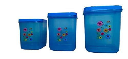 Shreeji Plastic Airtight Food Storage Containers Plastic Kitchen, Jar Set for Kitchen, Kitchen Storage Jars, Fridge Stor