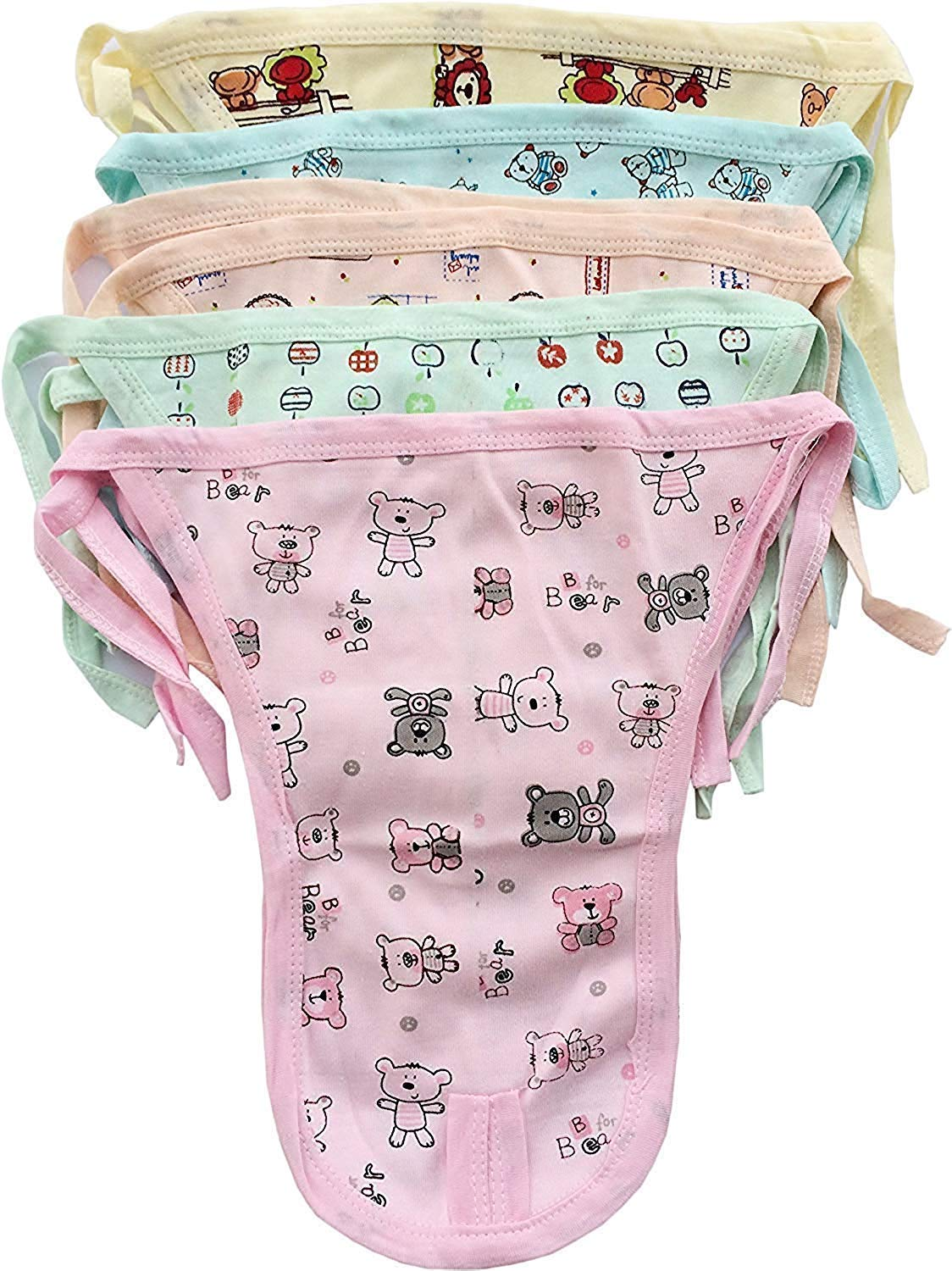 Go Chikko Babies Printed Cotton Reusable Diaper  9 12 Months Multicolor   Pack of 6