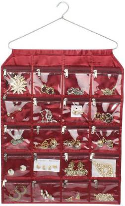 TULSI ENTERPRICE 20 Pockets Hanging Jewellery Organizer Accessories Organizer
