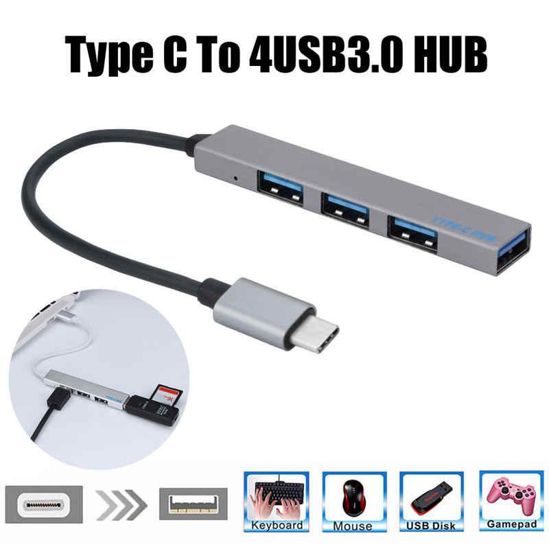 TSV Type C To USB HUB 4 Port USB 3.0 T 809A USB Hub  Silver