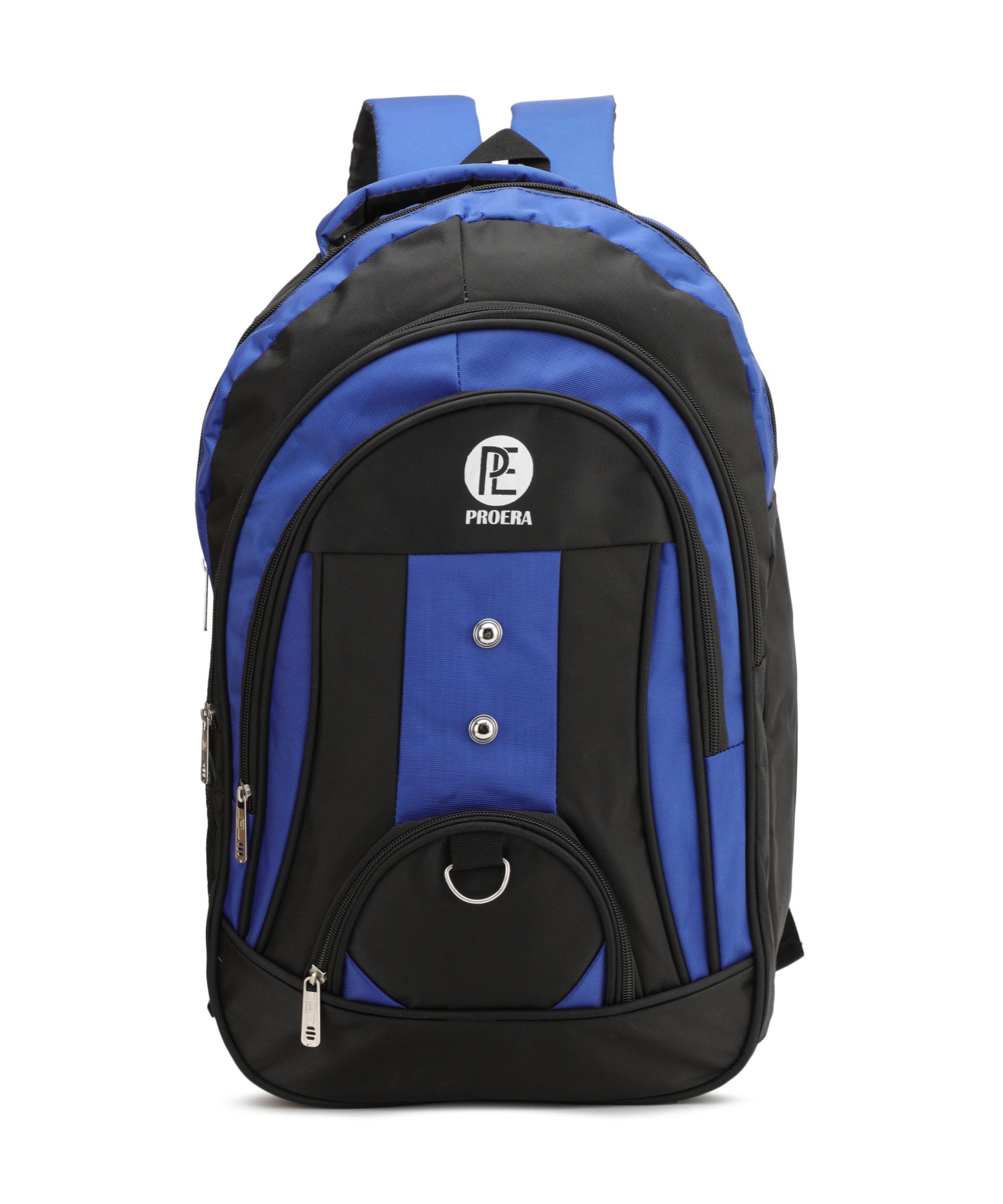 Proera Blue 30 Ltrs Waterproof Polyester School/College   Office Bag  Unisex