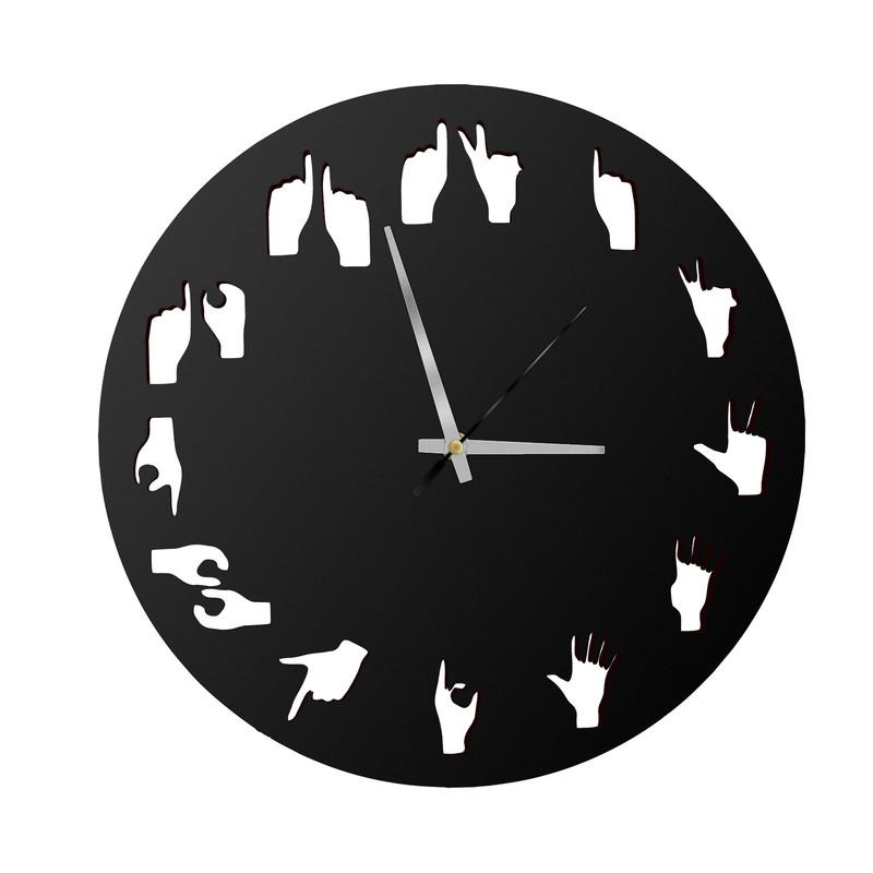 POCKESTER Analog 28 cm X 28 cm Wall Clock  Black, Without Glass