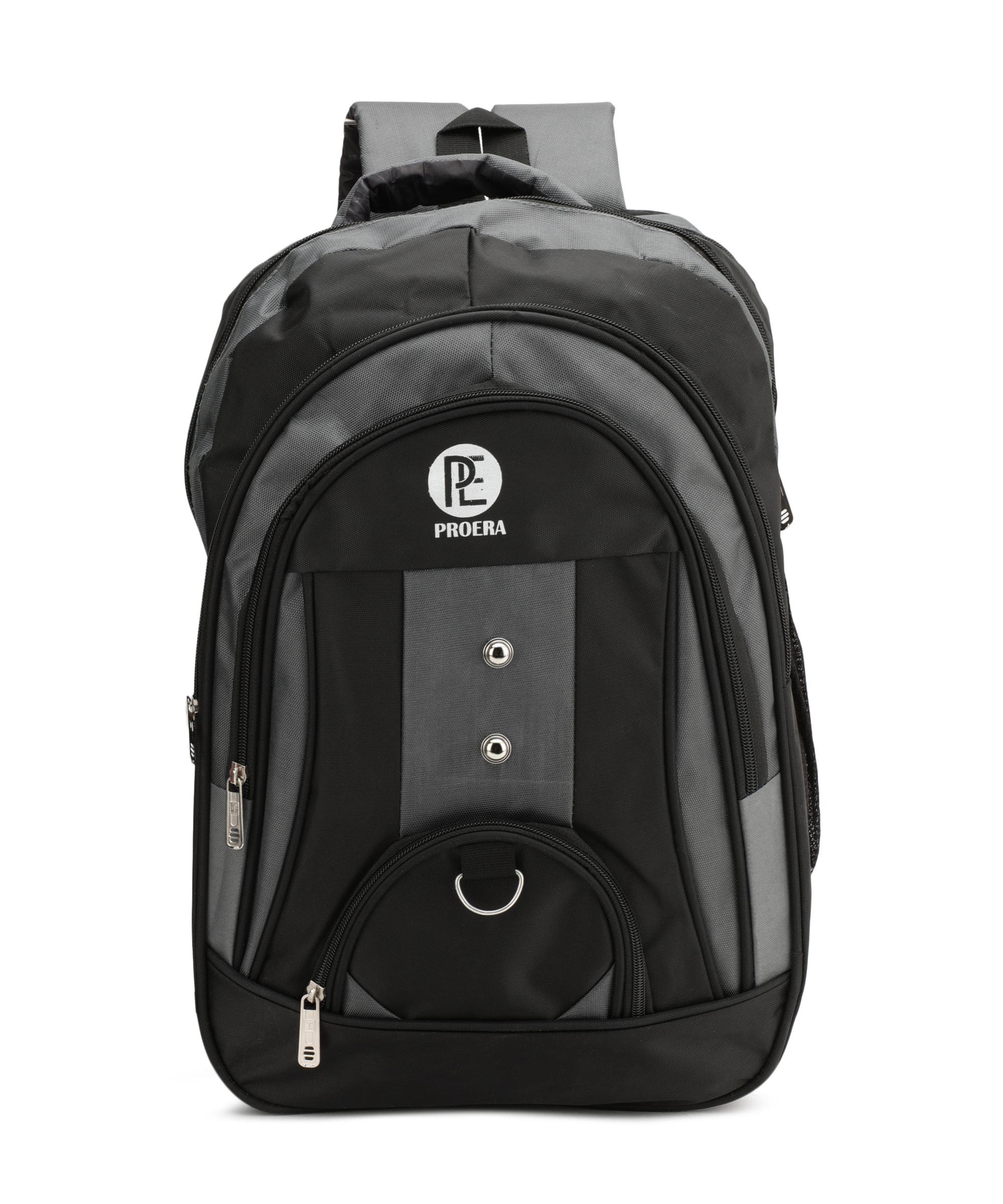 Proera Grey 30 Ltrs Waterproof Polyester School/College   Office Bag  Unisex