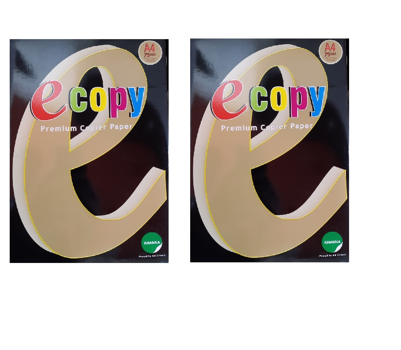 Khanna E Copy 75gsm Premium Quality Copier Paper A4 Size White  Set of 2 Packs