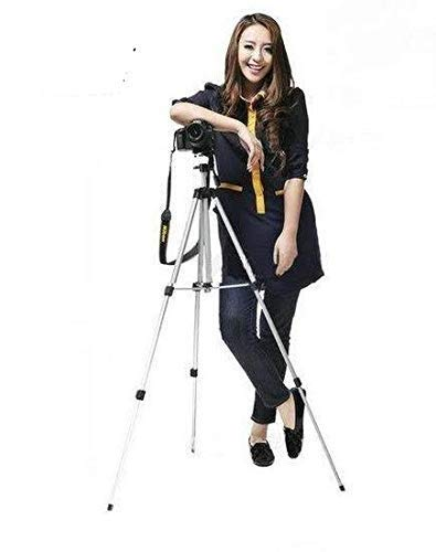 Tripod 330A 55 Inches Tripod with Free Mobile Holder Bracket  Tilt Pan Rotate up and Down