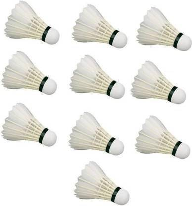 Feather Shuttle   White   Pack of 10