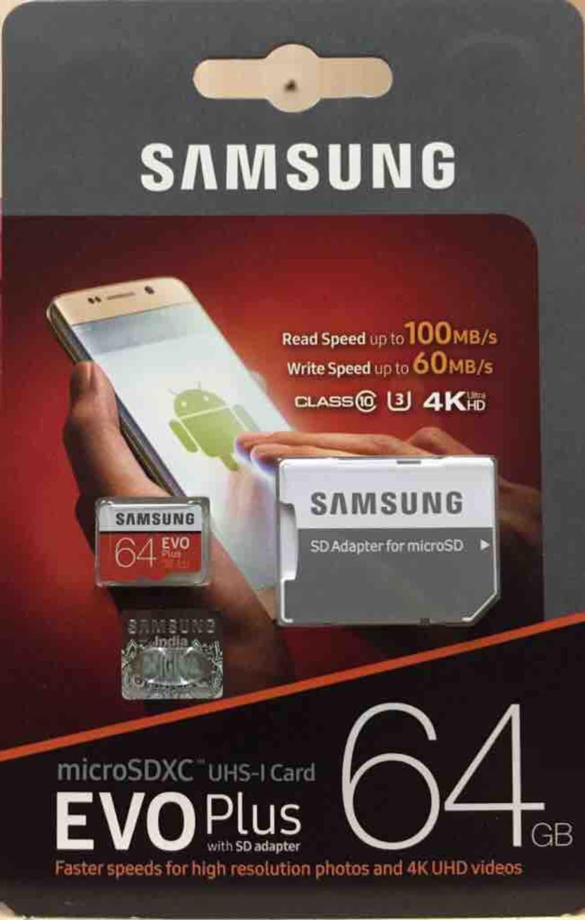 SAMSUNG 64 GB EVO PLUS Class 10 Memory Card  100mbps/60mbps