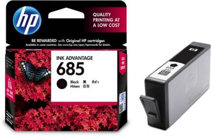 HP 685 Single Black Color Ink Cartridge