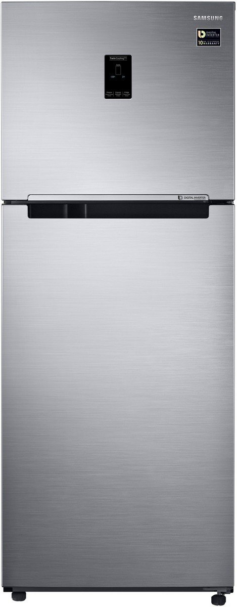 Samsung 394 L 3 Star  2019  Frost Free Double Door Refrigerator RT39M5538S8/TL, Elegant Inox, Convertible, Inverter Compressor