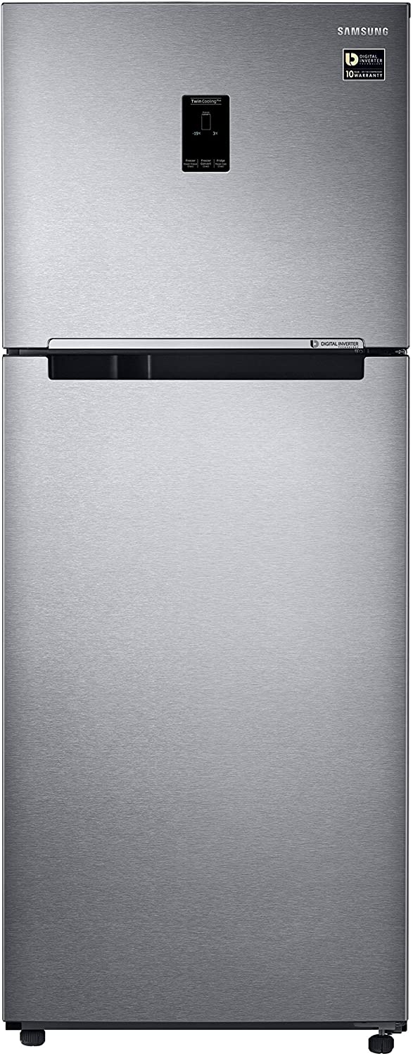 Samsung 394 L 4 Star Frost Free Double Door Refrigerator RT39M553ESL/TL, Real Stainless, Convertible, Inverter Compressor