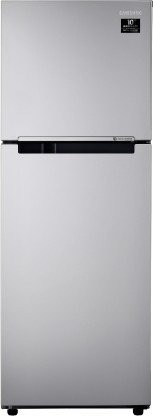 Samsung 253 L Frost Free Double Door 2 Star  2020  Refrigerator  Electric Silver, RT28T3022SE/HL