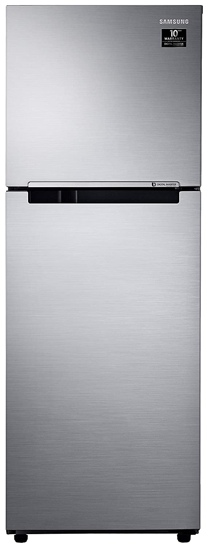 Samsung 253 L 2 Star Inverter Frost Free Double Door Refrigerator  RT28T3042S8/HL, Elegant Inox Light Doi Metal
