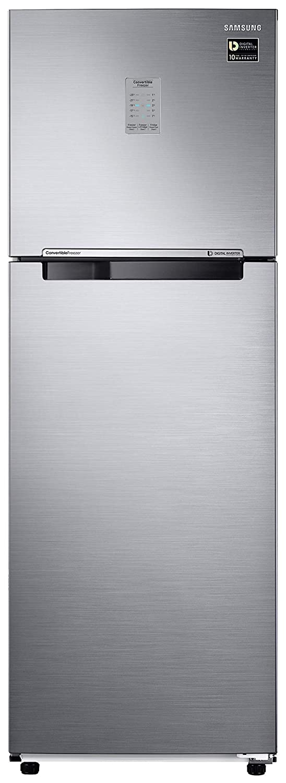 Samsung 275 L 2 Star Inverter Frost Free Double Door Refrigerator  RT30T3722S8/HL, Elegant Inox, Convertible